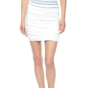 Splended Ruched Mini Skirt White